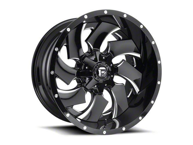 Fuel Wheels Cleaver 2-Piece Black Milled 6-Lug Wheel - 20x12 (07-18 Sierra 1500)