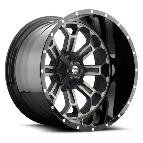 Fuel Wheels Crush Matte Black Machined 6-Lug Wheel - 22x10 (07-18 Sierra 1500)