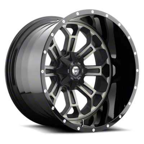 Fuel Wheels Crush Matte Black Machined 6-Lug Wheel - 22x12 (07-18 Sierra 1500)