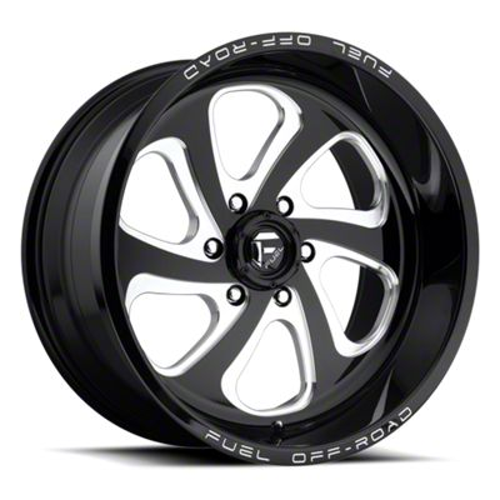 Fuel Wheels Flow Gloss Black Milled 6-Lug Wheel - 20x12 (07-18 Sierra 1500)