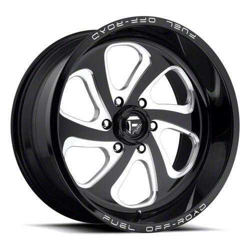 Fuel Wheels Flow Gloss Black Milled 6-Lug Wheel - 22x10 (07-18 Sierra 1500)