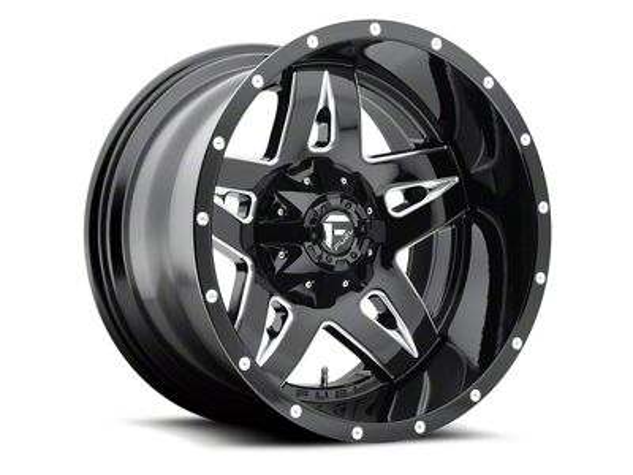 Fuel Wheels Full Blown Black Milled 6-Lug Wheel - 20x9 (07-18 Sierra 1500)