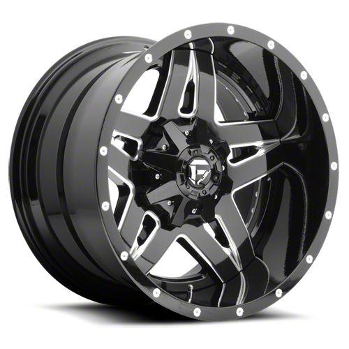 Fuel Wheels Full Blown Black Milled 6-Lug Wheel - 22x10 (07-18 Sierra 1500)