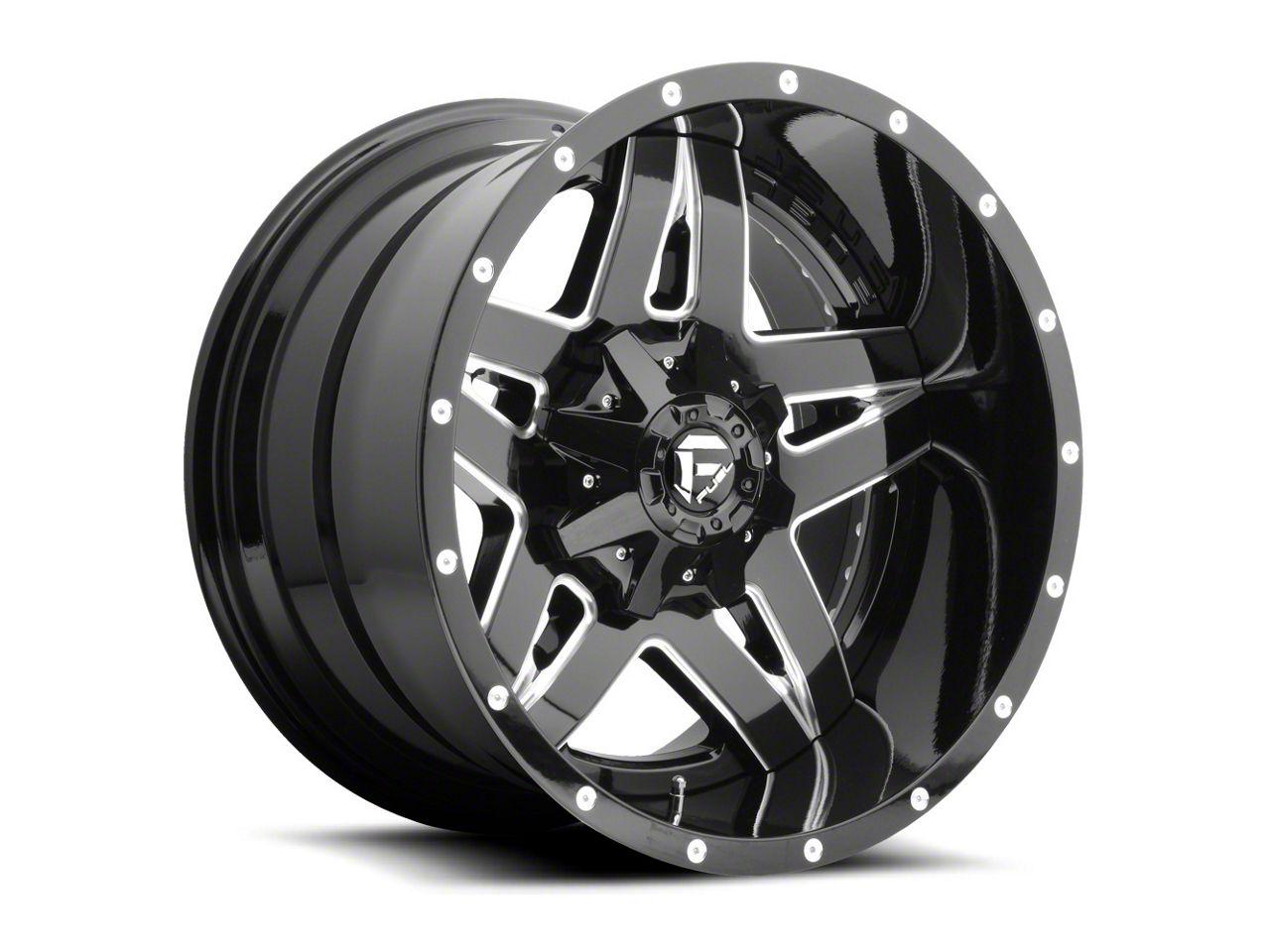 Fuel Wheels Full Blown Black Milled 6-Lug Wheel - 22x14 (07-18 Sierra 1500)