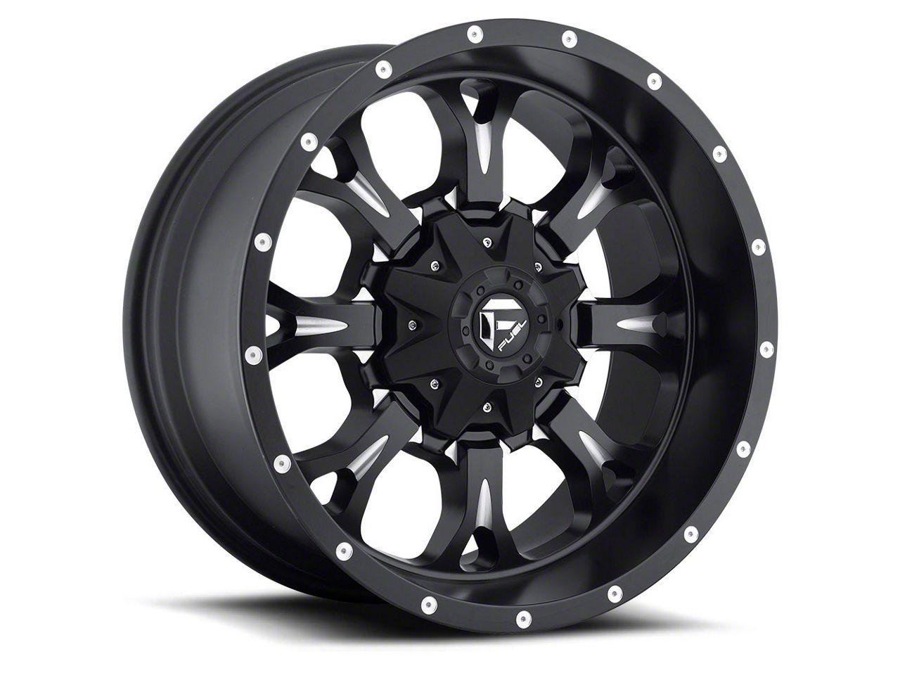 Fuel Wheels Krank Black Milled 6-Lug Wheel - 20x9 (07-18 Sierra 1500)