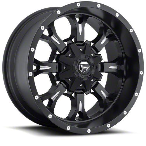 Fuel Wheels Krank Black Milled 6-Lug Wheel - 22x11 (07-18 Sierra 1500)