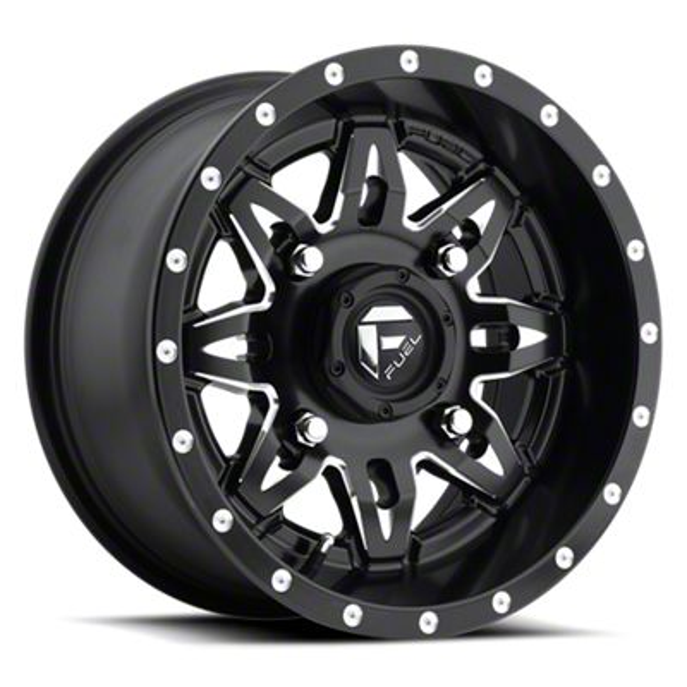 Fuel Wheels Lethal Black Milled 6-Lug Wheel - 20x12 (07-18 Sierra 1500)