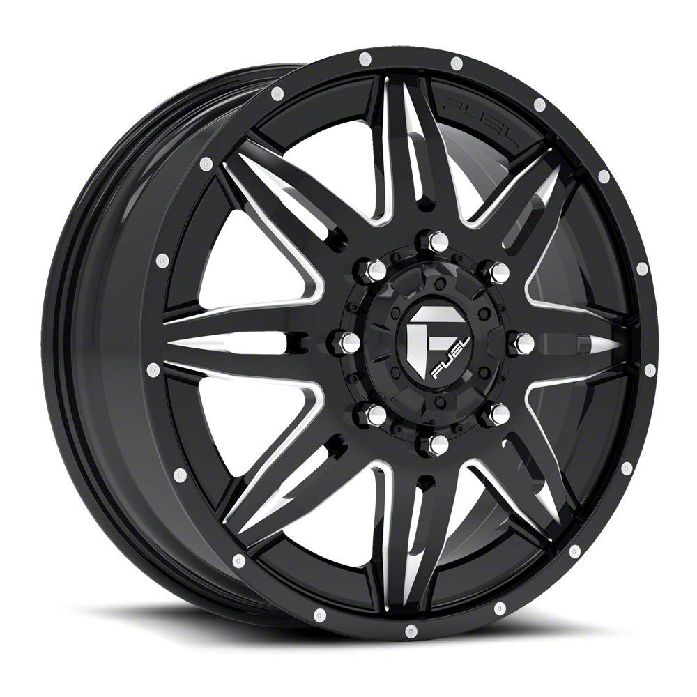 Fuel Wheels Lethal Black Milled 6-Lug Wheel - 22x12 (07-18 Sierra 1500)