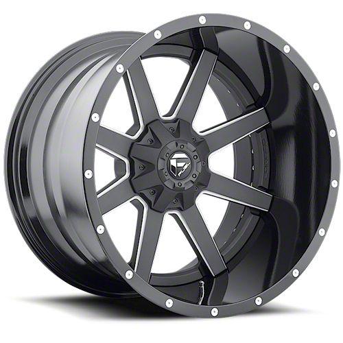 Fuel Wheels Maverick 2-Piece Black Milled 6-Lug Wheel - 20x14 (07-18 Sierra 1500)