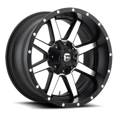 Fuel Wheels Maverick Black Machined 6-Lug Wheel - 18x12 (07-18 Sierra 1500)