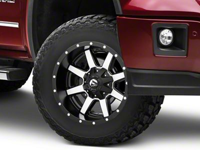Fuel Wheels Maverick Black Machined 6-Lug Wheel - 18x9 (07-18 Sierra 1500)