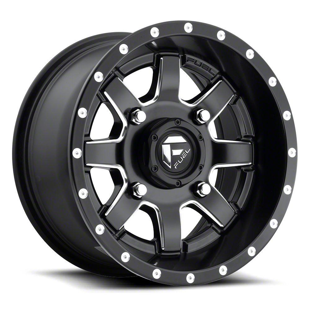 Fuel Wheels Maverick Black Milled 6-Lug Wheel - 22x9.5 (07-18 Sierra 1500)