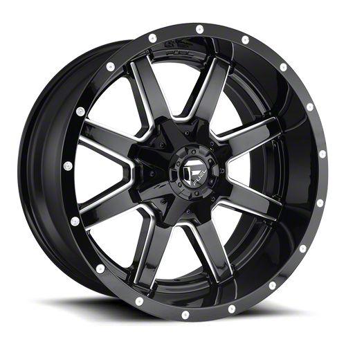 Fuel Wheels Maverick Gloss Black Milled 6-Lug Wheel - 22x10 (07-18 Sierra 1500)