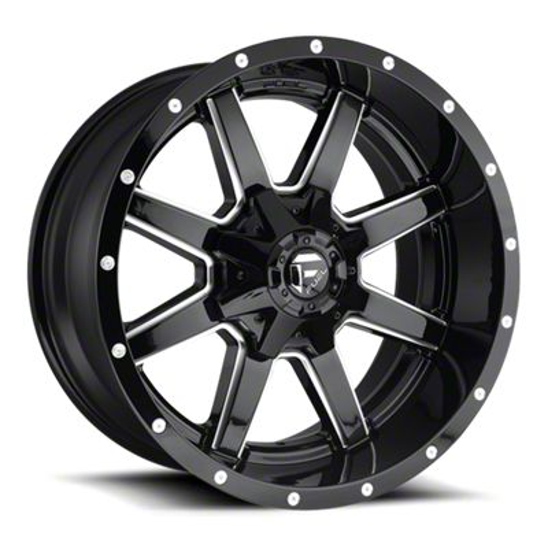 Fuel Wheels Maverick Gloss Black Milled 6-Lug Wheel - 22x12 (07-18 Sierra 1500)