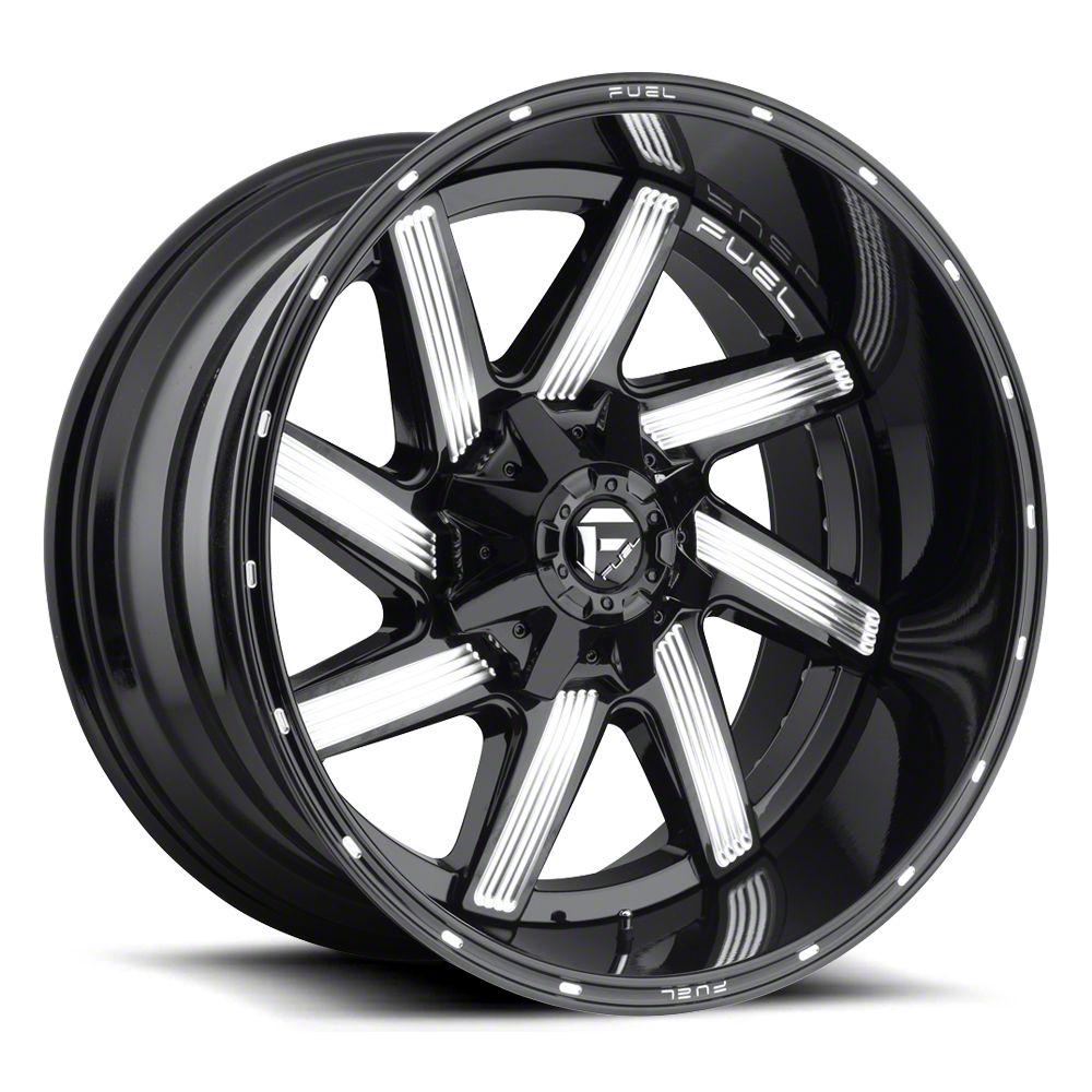 Fuel Wheels Moab Gloss Black Milled 6-Lug Wheel - 22x12 (07-18 Sierra 1500)