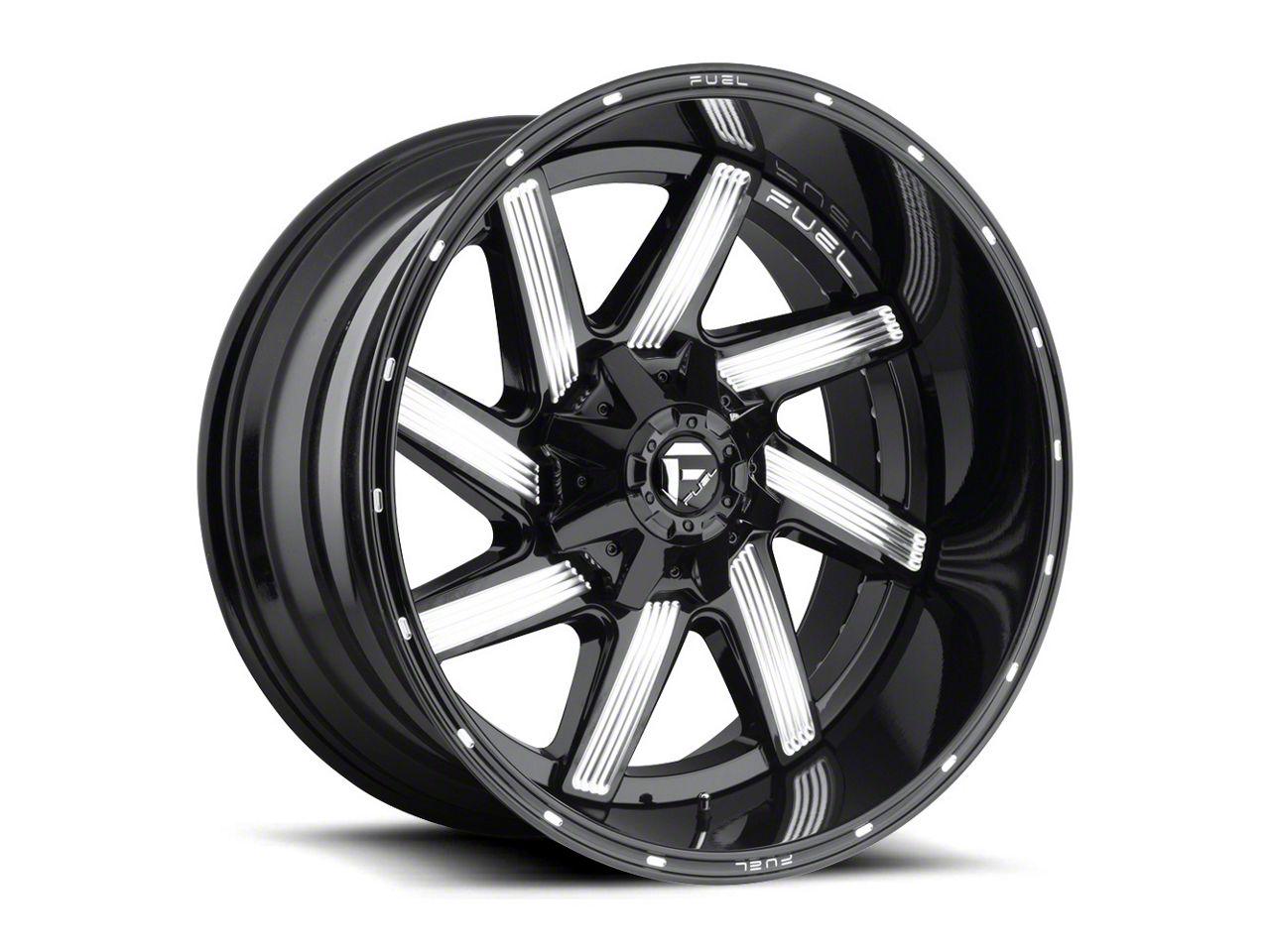 Fuel Wheels Moab Gloss Black Milled 6-Lug Wheel - 22x14 (07-18 Sierra 1500)