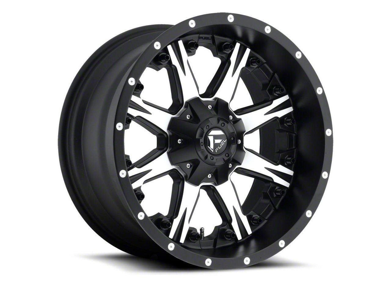 Fuel Wheels NUTZ Black Machined 6-Lug Wheel - 20x9 (07-18 Sierra 1500)