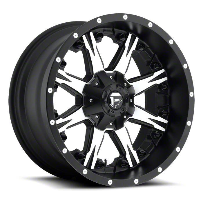 Fuel Wheels NUTZ Black Machined 6-Lug Wheel - 22x12 (07-18 Sierra 1500)