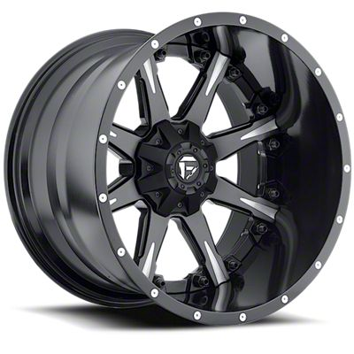 Fuel Wheels NUTZ Black Milled 6-Lug Wheel - 20x14 (07-18 Sierra 1500)