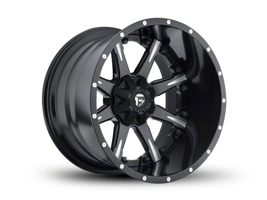 Fuel Wheels NUTZ Black Milled 6-Lug Wheel - 22x14 (07-18 Sierra 1500)