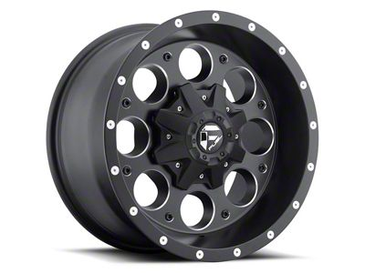 Fuel Wheels Revolver Black Milled 6-Lug Wheel - 18x9 (07-18 Sierra 1500)