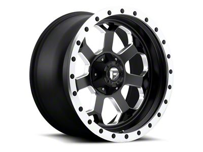 Fuel Wheels Savage Black Milled 6-Lug Wheel - 17x8.5 (07-18 Sierra 1500)