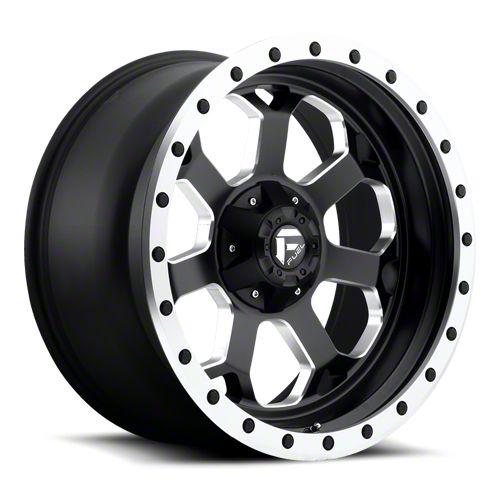 Fuel Wheels Savage Black Milled 6-Lug Wheel - 20x10 (07-18 Sierra 1500)