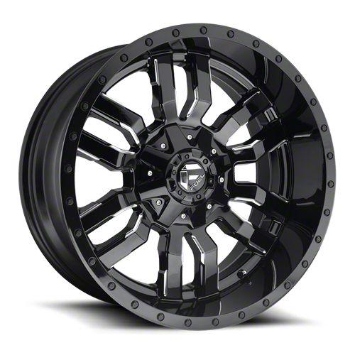 Fuel Wheels Sledge Gloss Black Milled 6-Lug Wheel - 22x12 (07-18 Sierra 1500)