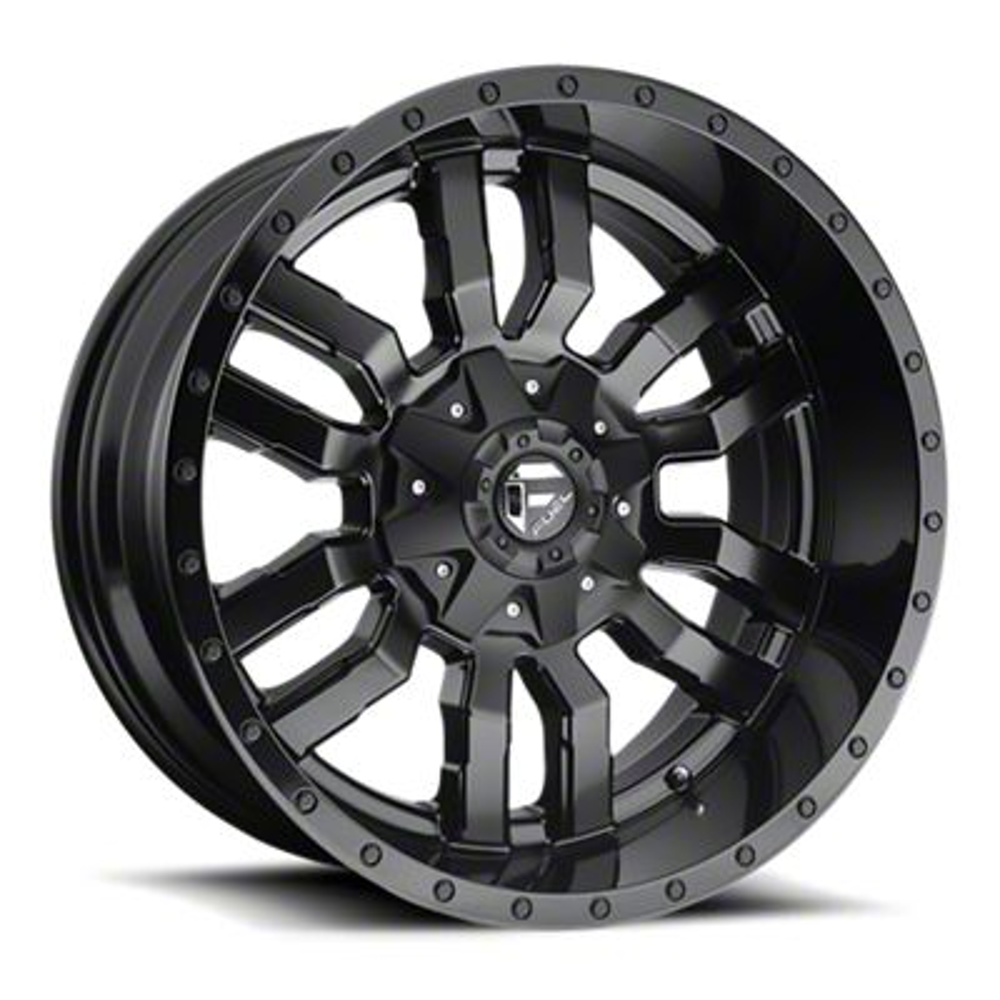 Fuel Wheels Sledge Gloss & Matte Black 6-Lug Wheel - 20x12 (07-18 Sierra 1500)