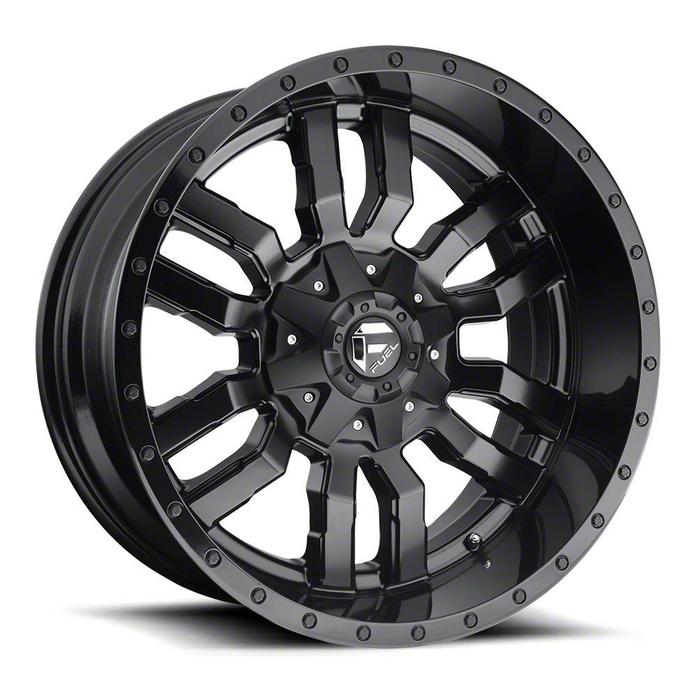 Fuel Wheels Sledge Gloss & Matte Black 6-Lug Wheel - 22x12 (07-18 Sierra 1500)