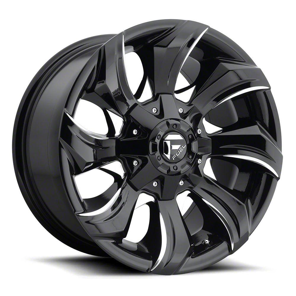 Fuel Wheels STRYKR Gloss Black Milled 6-Lug Wheel - 20x10 (07-18 Sierra 1500)