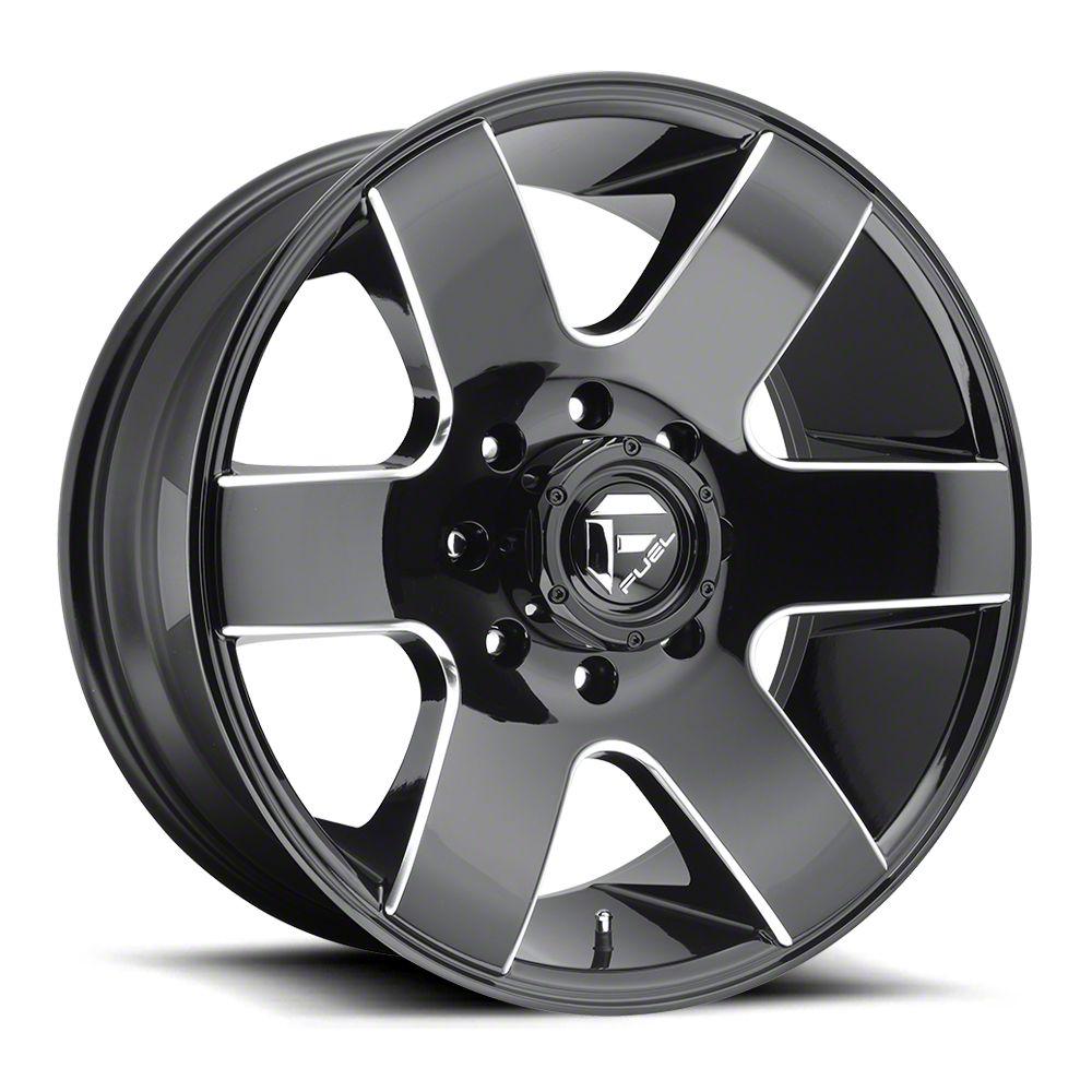 Fuel Wheels Tank Gloss Black Milled 6-Lug Wheel - 20x10 (07-18 Sierra 1500)