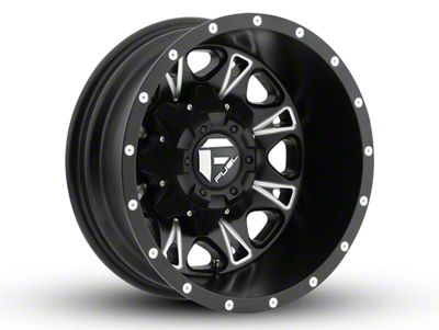 Fuel Wheels Throttle Black Milled 6-Lug Wheel - 18x9 (07-18 Sierra 1500)