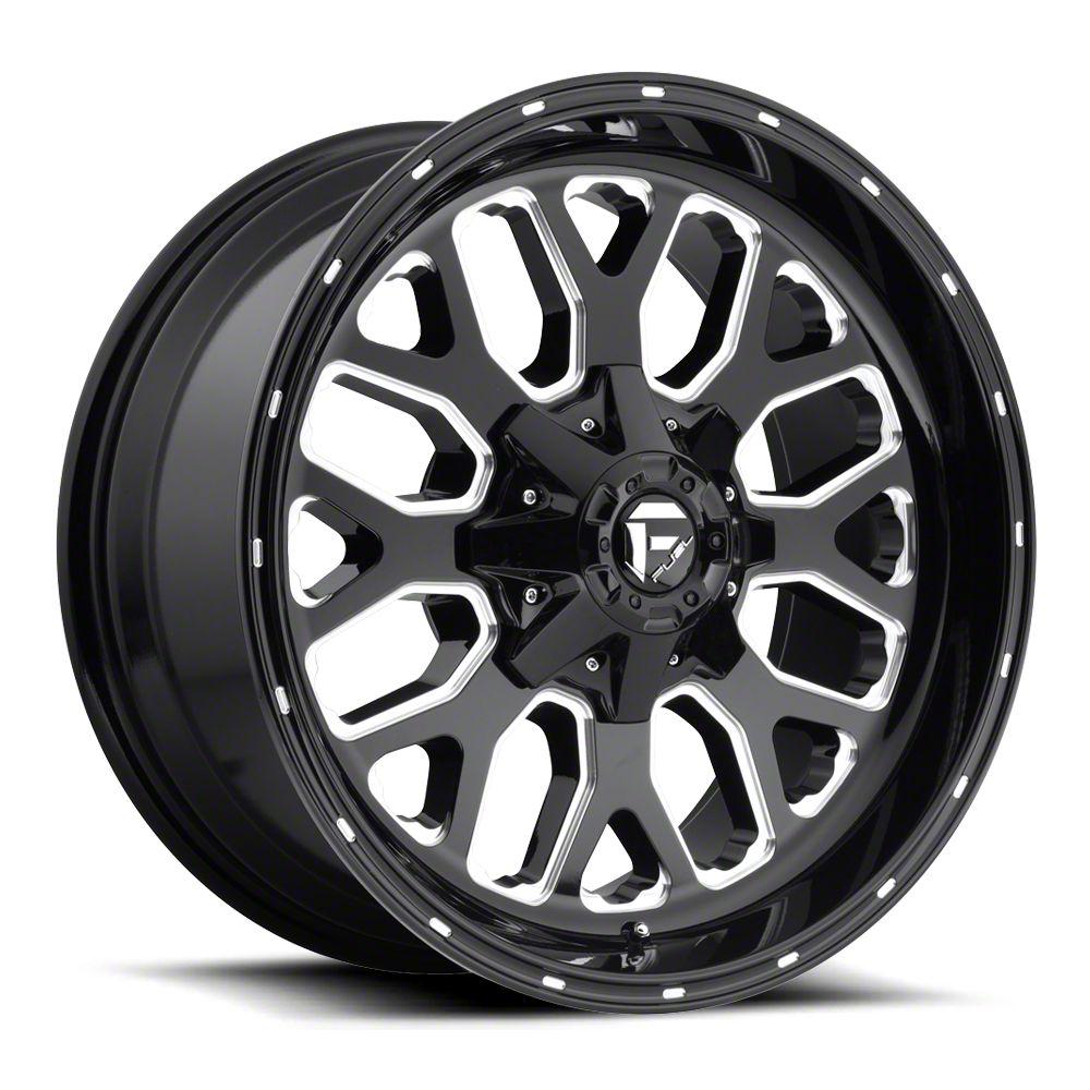 Fuel Wheels Titan Gloss Black Milled 6-Lug Wheel - 22x10 (07-18 Sierra 1500)