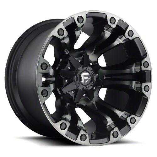 Fuel Wheels Vapor Matte Black Machined 6-Lug Wheel - 20x12 (07-18 Sierra 1500)
