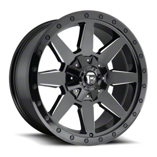 Fuel Wheels Wildcat Gloss Black Milled 6-Lug Wheel - 20x10 (07-18 Sierra 1500)