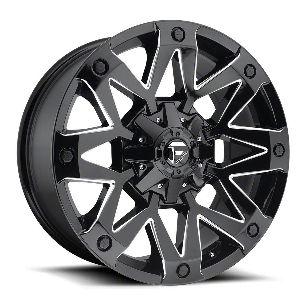 Fuel Wheels Ambush Gloss Black Milled 6-Lug Wheel - 20x9 (07-18 Sierra 1500)