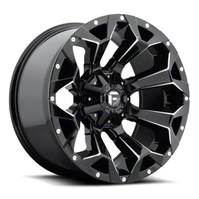 Fuel Wheels Assault Gloss Black Milled 6-Lug Wheel - 18x9 (07-18 Sierra 1500)