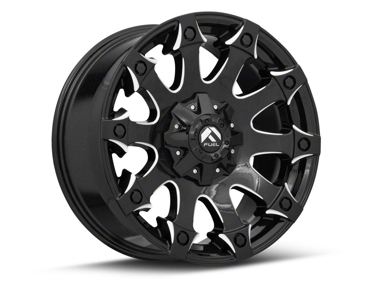 Fuel Wheels Battle Axe Gloss Black Milled 6-Lug Wheel - 20x9 (07-18 Sierra 1500)