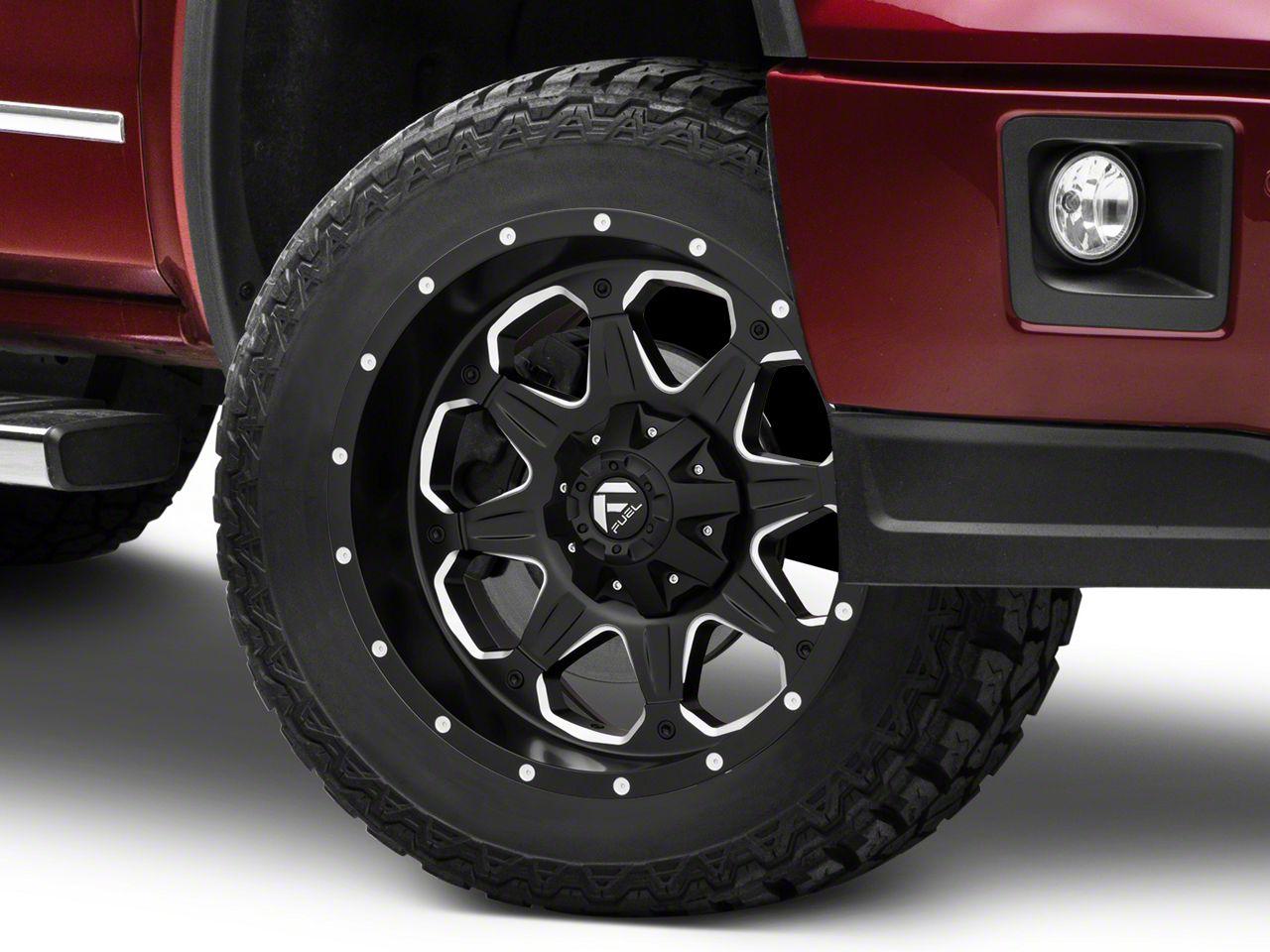 Fuel Wheels Boost Black Milled 6-Lug Wheel - 20x9 (07-18 Sierra 1500)