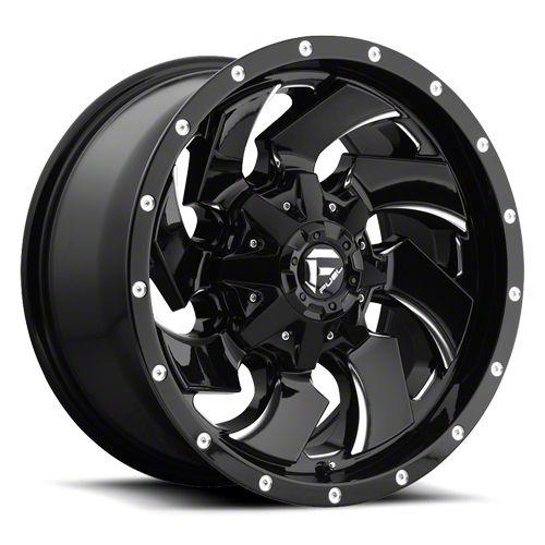Fuel Wheels Cleaver Black Milled 6-Lug Wheel - 20x9 (07-18 Sierra 1500)