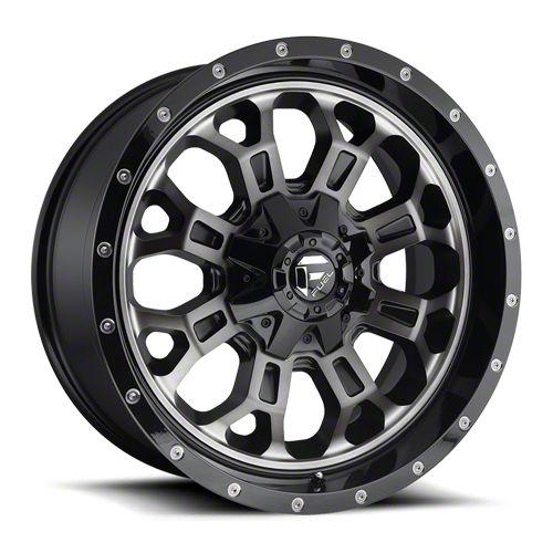 Fuel Wheels Crush Matte Black Machined 6-Lug Wheel - 20x9 (07-18 Sierra 1500)