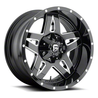 Fuel Wheels Full Blown Black Milled 6-Lug Wheel - 18x9 (07-18 Sierra 1500)