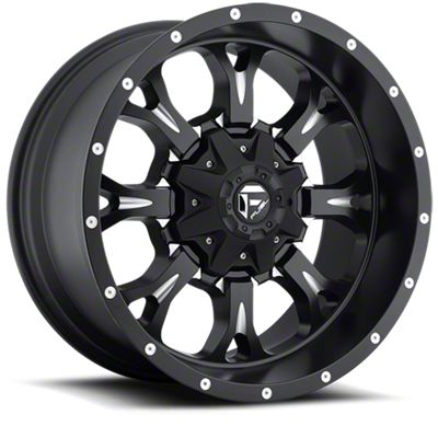 Fuel Wheels Krank Black Milled 6-Lug Wheel - 18x9 (07-18 Sierra 1500)