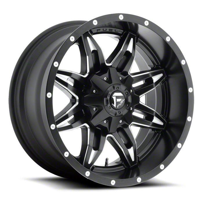 Fuel Wheels Lethal Black Milled 6-Lug Wheel - 20x10 (07-18 Sierra 1500)