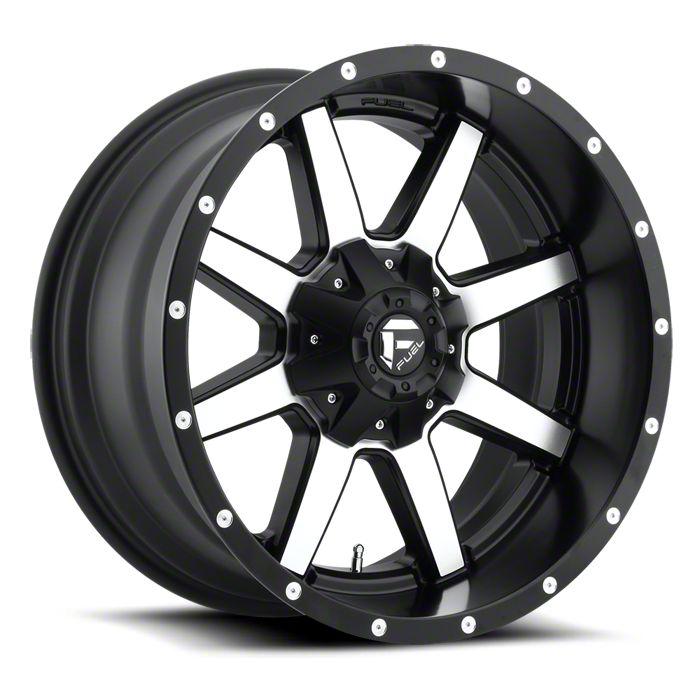 Fuel Wheels Maverick Black Machined 6-Lug Wheel - 20x10 (07-18 Sierra 1500)