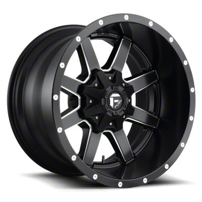 Fuel Wheels Maverick Black Milled 6-Lug Wheel - 17x10 (07-18 Sierra 1500)