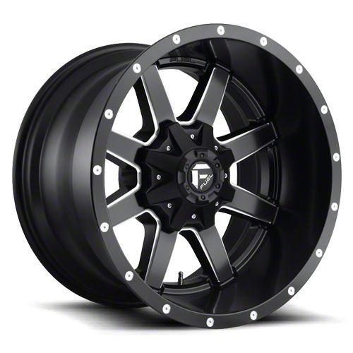 Fuel Wheels Maverick Black Milled 6-Lug Wheel - 22x10 (07-18 Sierra 1500)