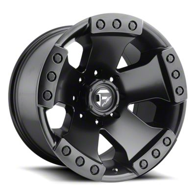 Fuel Wheels Monsta Matte Black 6-Lug Wheel - 17x9 (07-18 Sierra 1500)