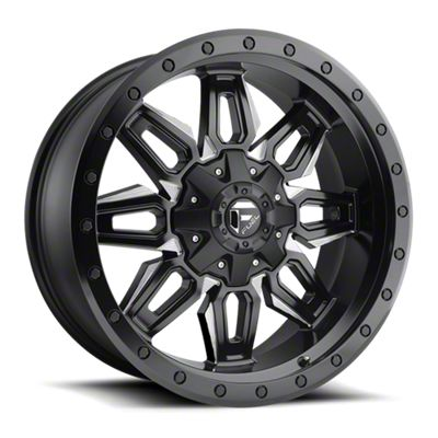 Fuel Wheels Neutron Matte Black Milled 6-Lug Wheel - 18x9 (07-18 Sierra 1500)